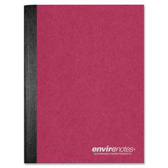 "Earthtones Composition Book - 80 Sheets - Printed - 15 lb Basis Weight 9.75"" x 7.50"" - Assorted Cover - 1Each"