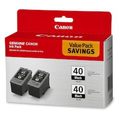 Canon PG-40 Twin-Pack Ink Cartridges - Inkjet - 2 / Pack