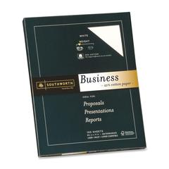 "Business Paper - Letter - 8.50"" x 11"" - 20 lb Basis Weight - Recycled - 25% Recycled Content - Wove - 100 / Pack - White"