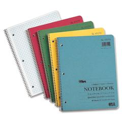 "TOPS Notebook - 80 Sheets - Printed - Wire Bound - Letter 8.50"" x 11"" - Assorted Paper - Assorted Cover - Kraft Cover - 1Each"