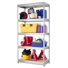 "1000 Boltless Shelves - 36"" x 18"" x 72"" - 5 x Shelf(ves) - 2400 lb Load Capacity - Rust Resistant - Galvanized - Steel, Particleboard - Recycled - Assembly Required"