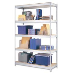 "1000 Boltless Shelves - 48"" x 18"" x 72"" - 5 x Shelf(ves) - 1700 lb Load Capacity - Rust Resistant - Galvanized - Steel, Particleboard - Recycled - Assembly Required"