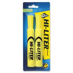 Avery Hi-Liter Desk Style Highlighters - Chisel Point Style - Fluorescent Yellow - 1 / Pack