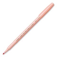 Pentel Arts Fiber Tip Color Pen - Fine Pen Point Type - Pale Orange Water Based Ink - Pale Orange Barrel - 1 Each