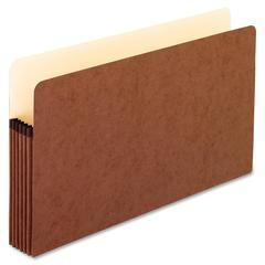 "Pendaflex Redrope File Pockets - Legal - 8 1/2"" x 14"" Sheet Size - 5 1/4"" Expansion - Red Fiber - Red - Recycled - 50 / Carton"