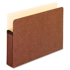 "Extra Strong File Pocket - Letter - 8 1/2"" x 11"" Sheet Size - 5 1/4"" Expansion - Red Fiber - Red - 50 / Carton"