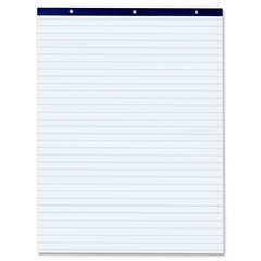 "Pacon Easel Pad - 50 Sheets - Printed - Stapled/Glued - Front Ruling Surface - 27"" x 34"" - White Paper - Chipboard Cover - 50 / Pad"