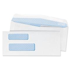 "Quality Park Double Window Envelope - Business - #9 - 8.87"" Width x 3.87"" Length - 24 lb - Wove - 500 / Box - White"