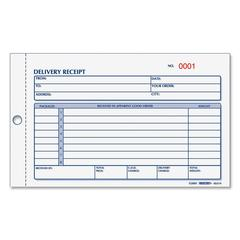 "Delivery Receipt Book - 50 Sheet(s) - Spiral Bound - 3 Part - Carbonless Copy - 4.25"" x 6.37"" Form Size - 1 Each"