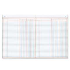 "Rediform Granite-grain Single Page Columnar Book - 80 Sheet(s) - Gummed - 9.25"" x 7"" Sheet Size - White Sheet(s) - Blue Cover - Recycled - 1 Each"