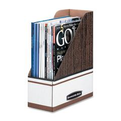 Magazine File - Woodgrain, 6 pack - Wood Grain - 6 / Pack