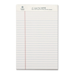 "Business Source Legal-ruled Writing Pads - 50 Sheets - Printed - 16 lb Basis Weight - Jr.Legal 8"" x 5"" - White Paper - 1Dozen"