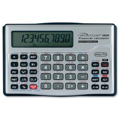 "Compucessory Financial Calculator - Auto Power Off - 10 Digits - LCD - Battery Powered - 1 - CR2032 - 0.6"" x 5"" x 3.1"" - Silver - 1 Each"