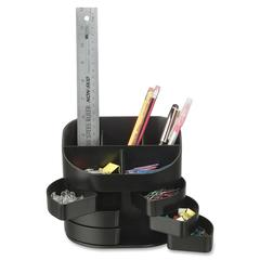 "2200 Series Double Supply Organizer - 11 Compartment(s) - 4.5"" Height x 5"" Width x 3.8"" Depth - Desktop - Black - Plastic - 1Each"