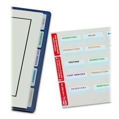 "Redi-Tag White Bulk Pack 2"" Printable Index Tabs - 80 Print-on Tab(s) - 0.87"" Tab Height x 2"" Tab Width - Self-adhesive, Permanent - White Plastic Tab(s) - 80 / Pack"