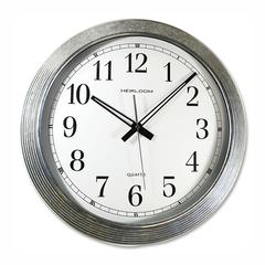 "Artistic 16"" Galvanized Metal Round Wall Clock - Analog"