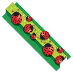 """Carson-Dellosa Pop-Its Borders - (Ladybug) Shape - Die-cut, Easy to Use - 3"""" Height x 36"""" Width - Assorted - 8 / Pack"""