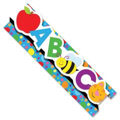 "Carson-Dellosa Pop-Its Borders - (Alphabet) Shape - Die-cut, Easy to Use - 3"" Height x 24"" Width - Assorted - 8 / Pack"