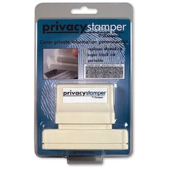 "Xstamper Secure Privacy Stamp - 1"" Impression Width x 2.18"" Impression Length - Black - 1 / Pack"