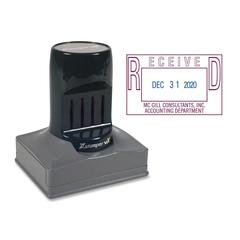 """Xstamper VXEDater Round Date Stamp - Date Stamp - """"REC'D, PAID, ENT'D, FAXED"""" - 1.38"""" Impression Width x 2.18"""" Impression Length - 1 Each"""