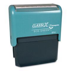 "Xstamper Custom Self-ink 1-10 Line Message Stamp - Custom Message Stamp - 1.44"" Impression Width x 2.94"" Impression Length - Black - Plastic, Rubber - Recycled - 1 Each"