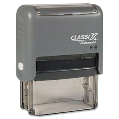 "Xstamper ClassiX Custom Stamp - Message Stamp - 0.69"" Impression Width x 1.88"" Impression LengthPlastic, Rubber - 1 Each"