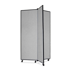 """Screenflex Panel Mobile Display Tower - 69"""" Height x 36"""" Width - Gray Polyester Fabric Surface - Steel Frame - 1 Each"""