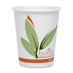 Solo Bare Hot Cup - 50 / Pack - White - Paper