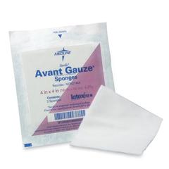"Medline Avant Gauze Sponge - 4 Ply - 4"" x 4"" - 200/Box - White"