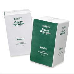 """Medline Caring Non-sterile Gauze Sponges - 16 Ply - 4"""" x 4"""" - 200/Box - White"""