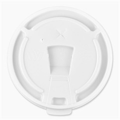 Genuine Joe Hot/Cold Cup Lid - 1000 / Carton - White