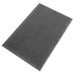 "Genuine Joe EcoGuard Indoor Wiper Floor Mats - Indoor - 60"" Length x 36"" Width - Plastic, Rubber - Charcoal Gray"