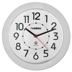 Lorell Round Profile Radio Controlled Wall Clock - Analog - Quartz - Atomic