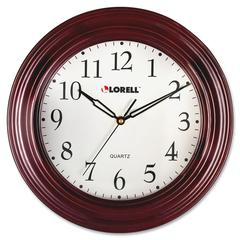 "Lorell 13-1/4"" Woodgrain Wall Clock - Quartz"