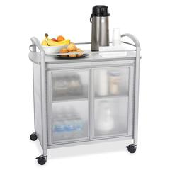 "Impromptu Refreshment Cart - 4 Casters - 34"" Width x 21.3"" Depth x 36.5"" Height - Steel Frame - Gray"