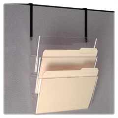 """OIC Space Saving Filing System - 7"""" Height x 13"""" Width x 4.1"""" Depth - Partition-mountable, Wall Mountable - Clear - Plastic - 1Each"""