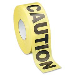 Sparco Caution Barricade Tape - 1000 ft Long Yellow