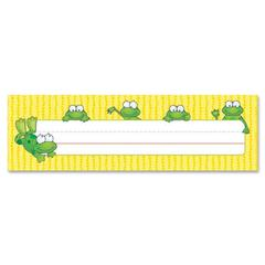 "Carson-Dellosa Frogs Design Desk Name Plate - Frogs - 2.87"" Height x 9.50"" Width - Assorted - 1 / Pack"