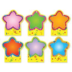 """Quick Stick Star Good Work Holder - Self-adhesive - Reusable - 5"""" Height x 5.75"""" Width - Multicolor - 6 / Pack"""