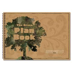 "Carson-Dellosa The Green Plan Book - 96 Sheet(s) - Spiral Bound - 9.25"" x 13"" Sheet Size - Recycled - 1 Each"