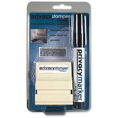"Xstamper Small Security Stamper Kit - 0.50"" Impression Width x 1.69"" Impression Length - Black - 1 / Pack"