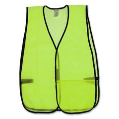 OccuNomix General Purpose Safety Vest - Lightweight - Mesh - Lime - 1 Each