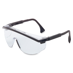 Astrospec 3000 Duoflex Safety Glass - Polycarbonate Lens - 2/ Each - Clear, Black