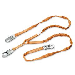 "Sperian Titan Tubular Shock-Absorbing Lanyard - 72"" Length - Orange"
