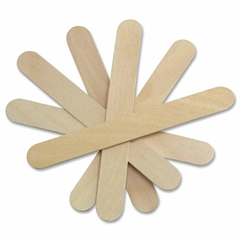 "Medline Tongue Depressor - 6"" Length - Wood - 500 / Box - Wood Grain"