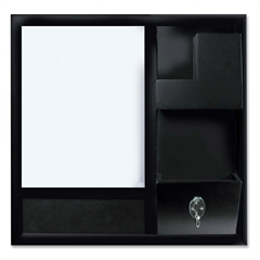 """MasterVision Dry-erase Station Combo Board - 16""""W x 16""""H"""