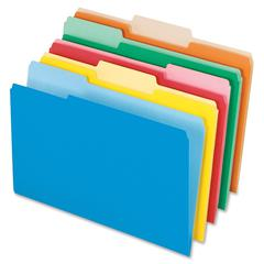 "Pendaflex Interior Top Tab File Folder - Legal - 8 1/2"" x 14"" Sheet Size - 1/3 Tab Cut - Assorted - 100 / Box"