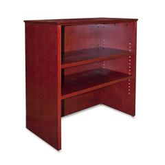 """Contemporary 9000 Bookcase Hutch for Lateral File - 33"""" x 16"""" x 36.5"""" - 2 Shelve(s) - Material: Hardwood - Finish: Mahogany, Veneer"""