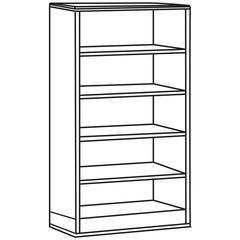 "Lorell Contemporary 9000 Bookcase - 72"" x 33"" x 16"" - 5 Shelve(s) - Double Pedestal - Square Edge - Material: Hardwood - Finish: Honey Cherry, Mahogany, Veneer"