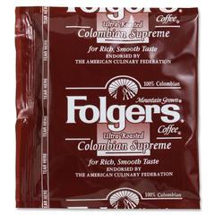 Folgers Ultra Roast Colombian Coffee - Regular - Dark/Bold - 0.9 oz - 150 / Carton